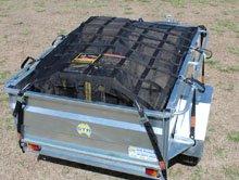 Cargo net on trailer
